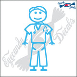 "STICK FAMILY MAN DOCTOR   5"" DECAL"