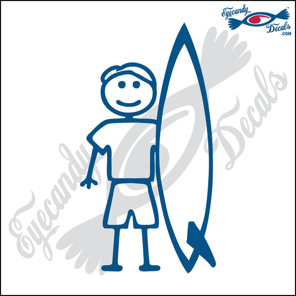 STICK FAMILY MAN SURFER  PLAIN BOARD  5