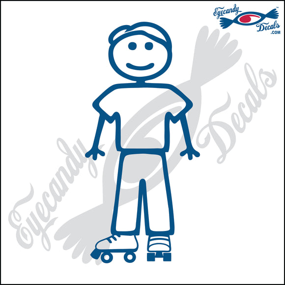 STICK FAMILY MAN WEARING ROLLER SKATES   5