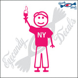 "STICK FAMILY MAN IN NEW YORK   5"" DECAL"