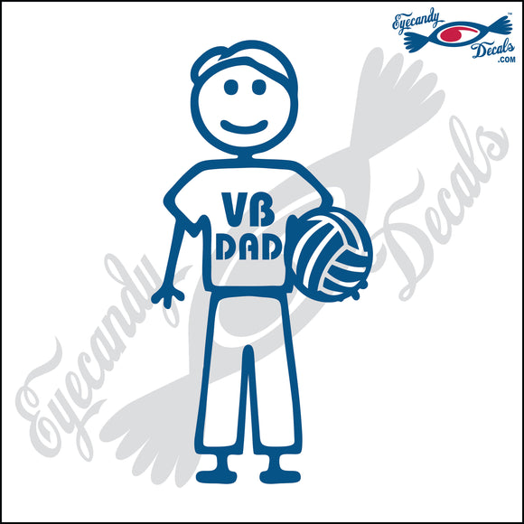STICK FAMILY MAN HOLDING VOLLEYBALL   5