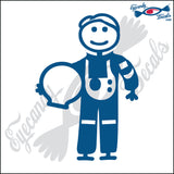 "STICK FAMILY MAN ASTRONAUT   5"" DECAL"