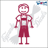 "STICK FAMILY MAN READY FOR OCTOBERFEST   5"" DECAL"