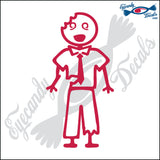 "STICK FAMILY MAN ZOMBIE   5"" DECAL"
