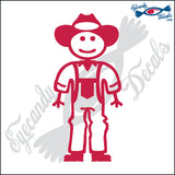 "STICK FAMILY MAN FARMER   5"" DECAL"