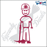 "STICK FAMILY MAN MINER   5"" DECAL"