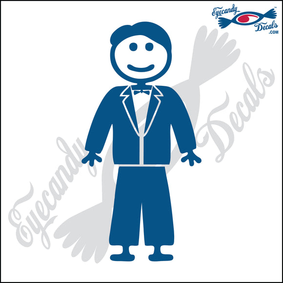 STICK FAMILY MAN GROOM IN TUXEDO   5