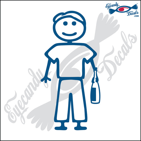 STICK FAMILY MAN HOLDING WINE BOTTLE   5