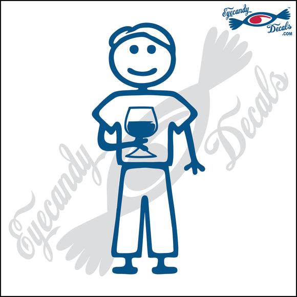 STICK FAMILY MAN HOLDING WINE GLASS   5