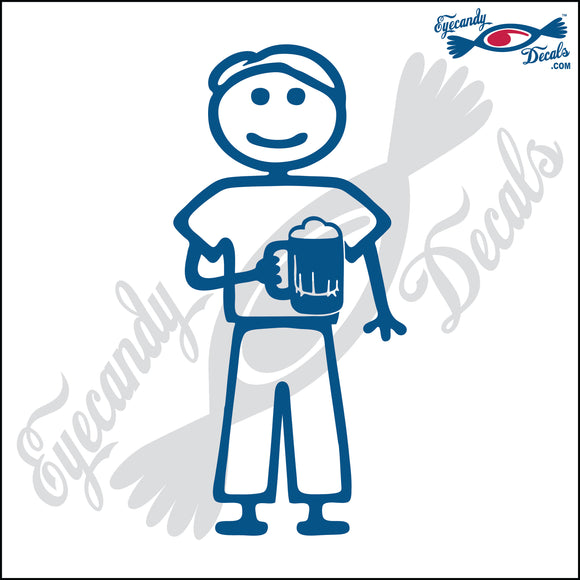 STICK FAMILY MAN HOLDING BEER MUG   5