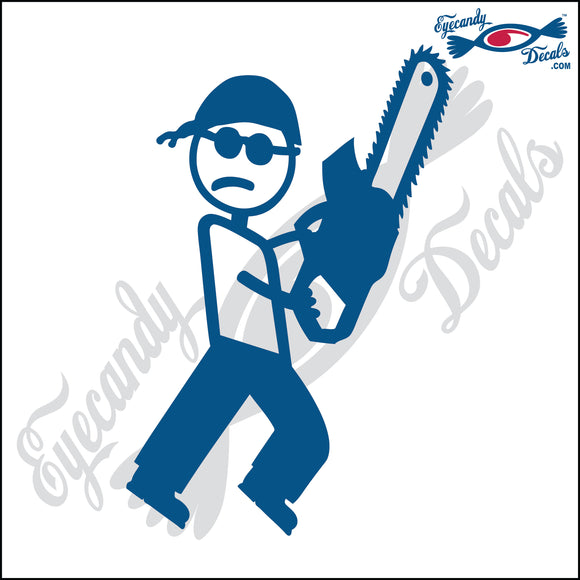 STICK FAMILY MAN MANIAC WITH CHAINSAW   5