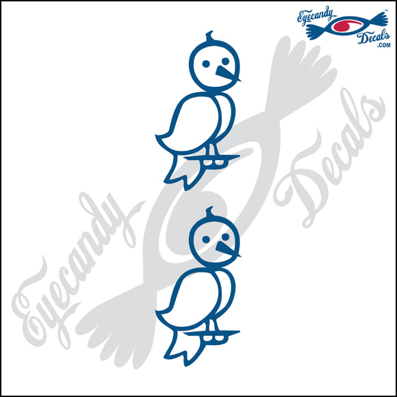 STICK FAMILY PET BIRDS  2 PACK DECAL