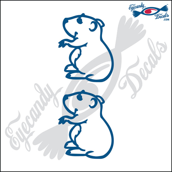 STICK FAMILY PET HAMSTERS  2 PACK DECAL