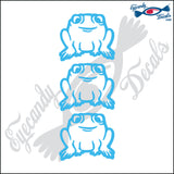 STICK FAMILY PET TOADS  3 PACK DECAL