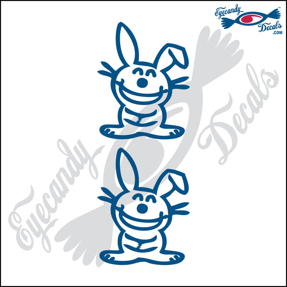 STICK FAMILY PET BUNNIES  2 PACK DECAL