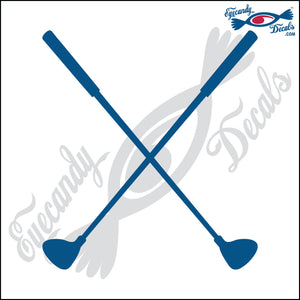 "GOLF CLUBS CROSSED 6"" DECAL"