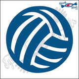 "VOLLEYBALL SOLID 5"" DECAL"