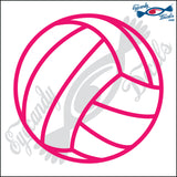 "VOLLEYBALL 5"" DECAL"