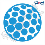 "GOLF BALL 4"" DECAL"