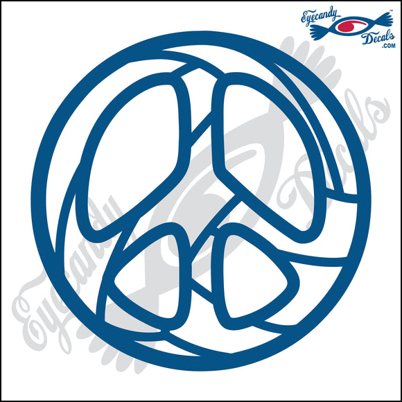 VOLLEYBALL PEACE SIGN 5