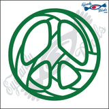 "VOLLEYBALL PEACE SIGN 5"" DECAL"