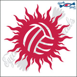 "VOLLEYBALL IN SUN solid 5"" DECAL"