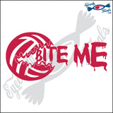 "VOLLEYBALL BITE ME 6"" DECAL"