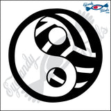 "VOLLEYBALL YING YANG 5"" DECAL"