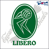 VOLLEYBALL LIBERO ABSTACT OVAL 6 INCH  DECAL