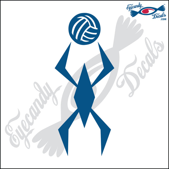VOLLEYBALL SETTER ABSTACT 6 INCH  DECAL