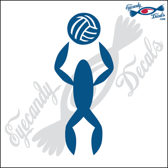 VOLLEYBALL SETTER ABSTACT ROUNDED 6 INCH  DECAL