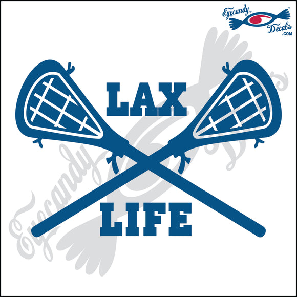LACROSSE STICKS CROSSED WITH LAX LIFE 6