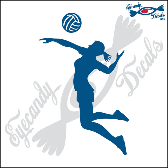 VOLLEYBALL FEMALE HITTER SILHUETTE 6 INCH  DECAL