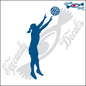 VOLLEYBALL FEMALE SETTER SILHUETTE 6 INCH  DECAL