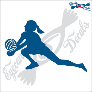 VOLLEYBALL FEMALE LIBERO SILHUETTE 6 INCH  DECAL