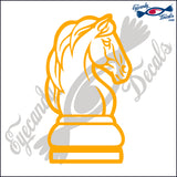 CHESS KNIGHT 6 INCH  DECAL