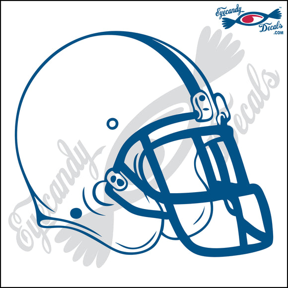 FOOTBALL HELMET BLANK 6 INCH  DECAL