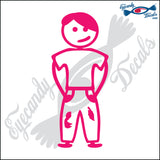 "STICK FAMILY TEEN BOY ORIGINAL   4.5"" DECAL"
