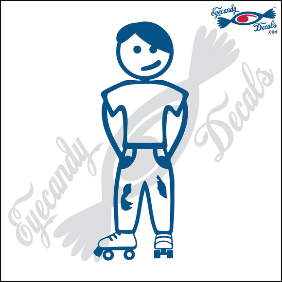 STICK FAMILY TEEN BOY WEARING ROLLER SKATES   4.5