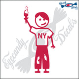 "STICK FAMILY TEEN BOY IN NEW YORK   4.5"" DECAL"