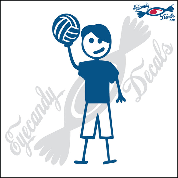STICK FAMILY TEEN BOY HOLDING VOLLEYBALL   4.5