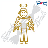 "STICK FAMILY TEEN BOY ANGEL   4.5"" DECAL"