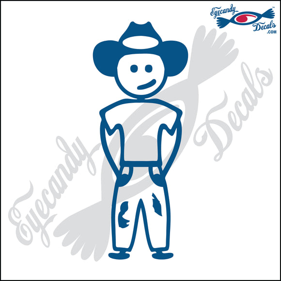 STICK FAMILY TEEN BOY WEARING COWBOY HAT   4.5