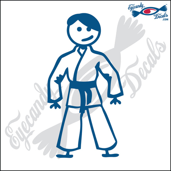 STICK FAMILY TEEN BOY IN KARATE UNIFORM   4.5