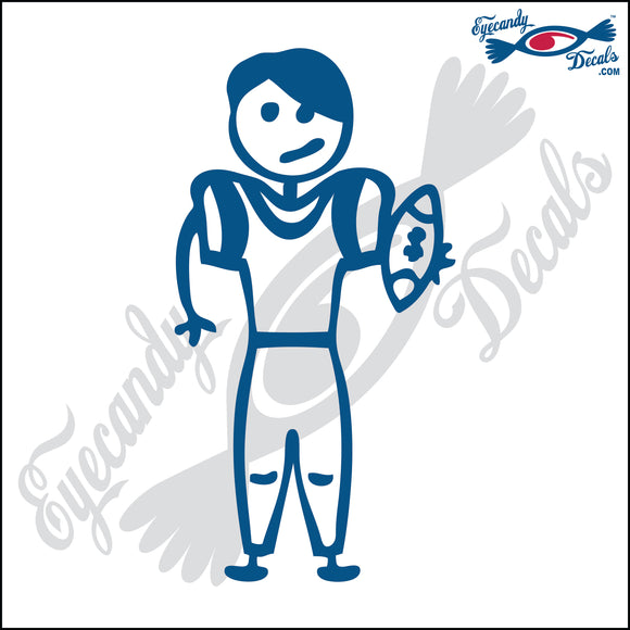 STICK FAMILY TEEN BOY FOOTBALL PLAYER   4.5