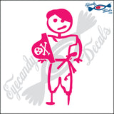 "STICK FAMILY TEEN BOY PIRATE   4.5"" DECAL"