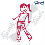 "STICK FAMILY TEEN GIRL ORIGINAL   4.5"" DECAL"