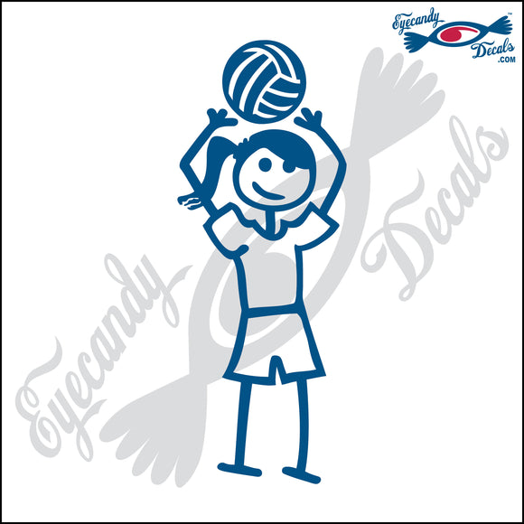 STICK FAMILY TEEN GIRL PLAYING VOLLEYBALL - SETTER   4.5
