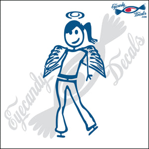 "STICK FAMILY TEEN GIRL ANGEL   4.5"" DECAL"