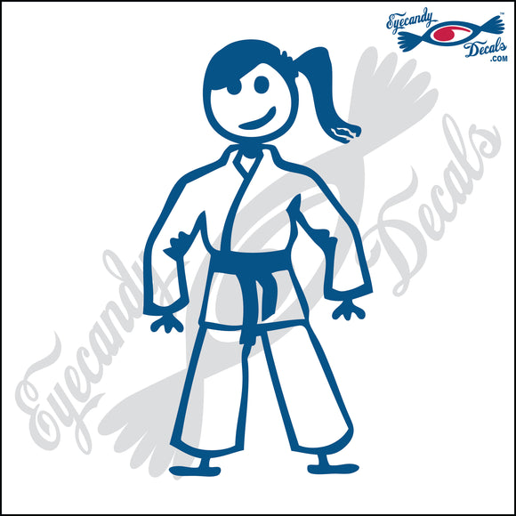 STICK FAMILY TEEN GIRL IN KARATE UNIFORM   4.5